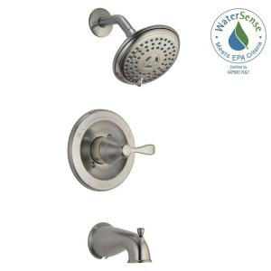 porter 3spray tub and shower faucet in brushed nickel