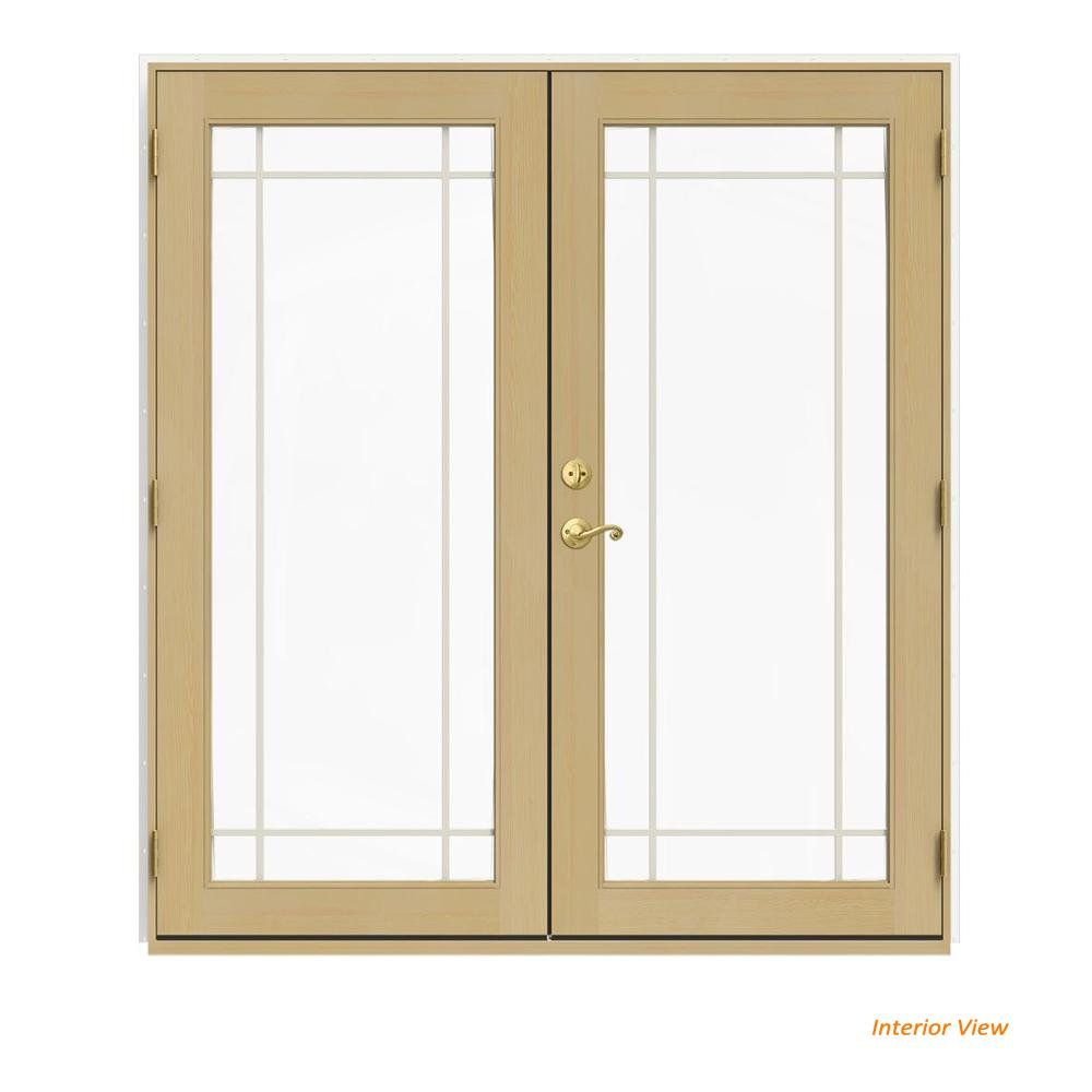 72 in. x 80 in. W-2500 White Clad Wood Left-Hand 9
