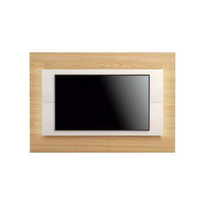 Sylvan 70.86 in. Nature Wood and Off-White TV Panel