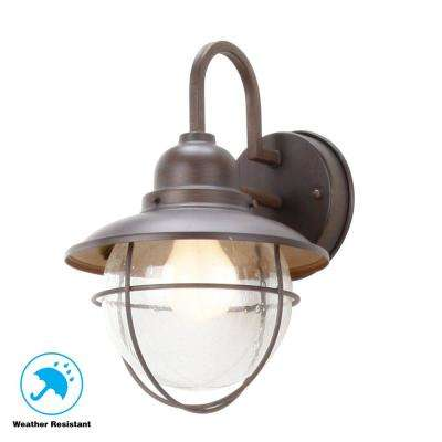 1-Light Brick Patina Outdoor Cottage Lantern