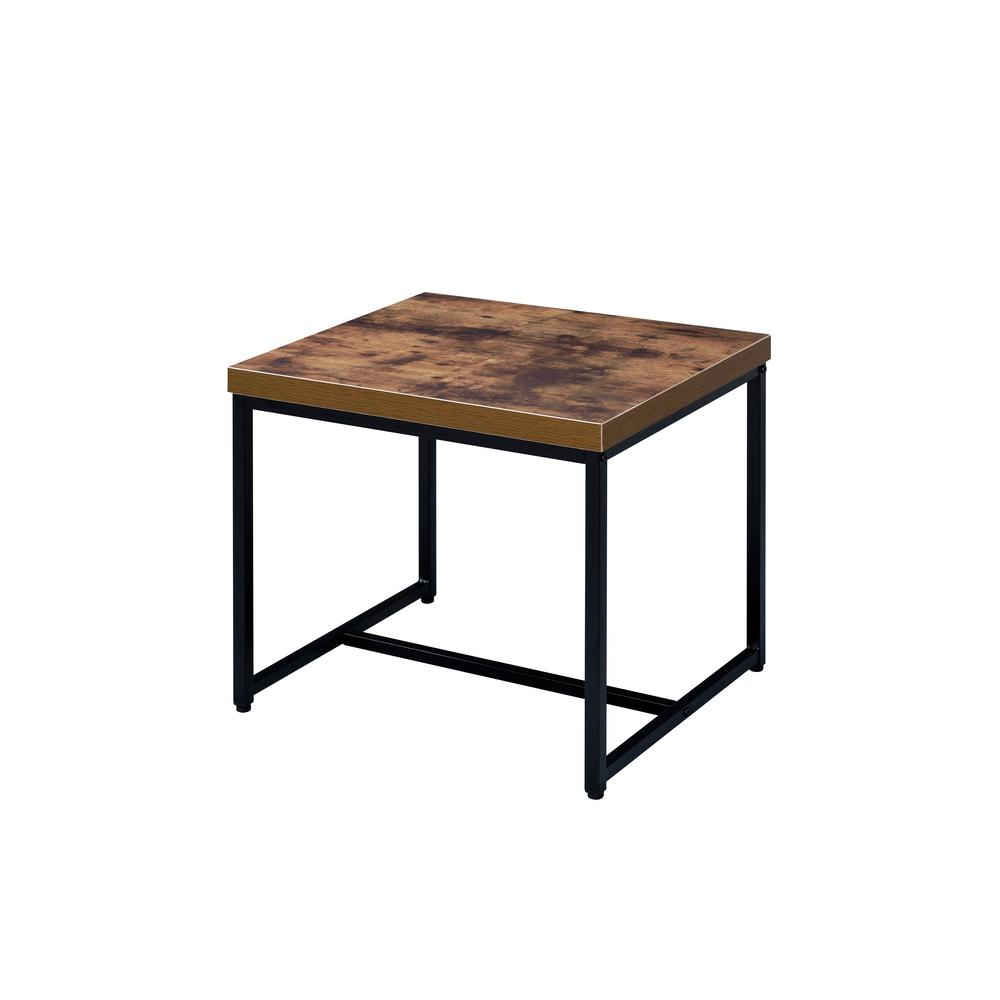 Superieur ACME Furniture Bob Weathered Oak And Black End Table