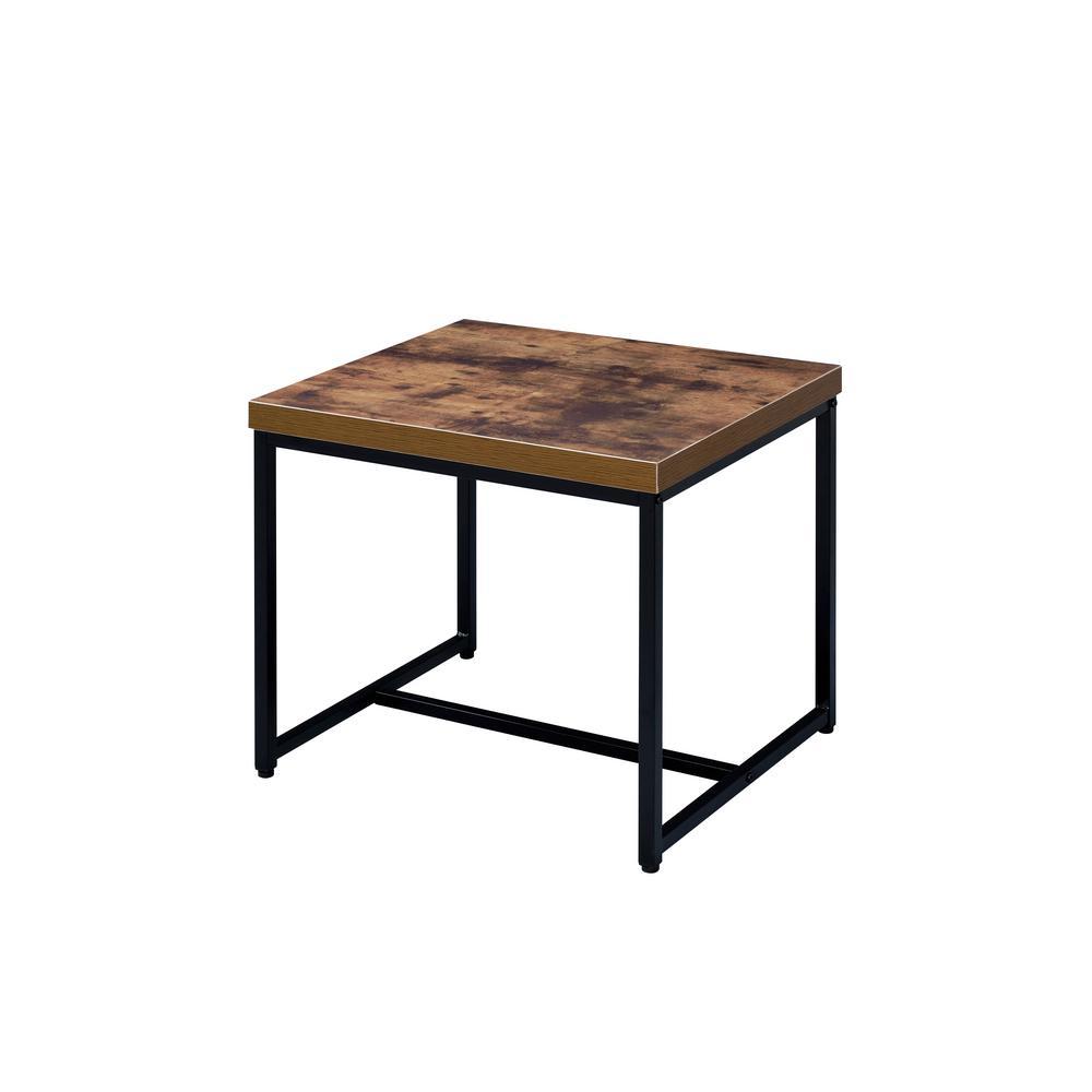 Acme Furniture Bob Weathered Oak And Black End Table
