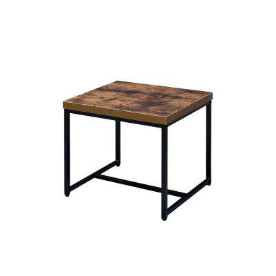 Bob Weathered Oak and Black End Table