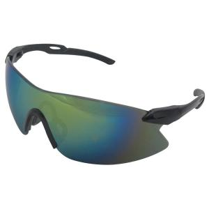 Strikers Eye Protection, Black Temple and Gold Mirror Lens by