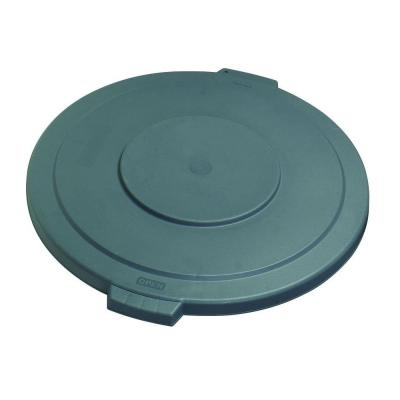 Bronco 32 Gal. Gray Round Trash Can Lid (4-Pack)