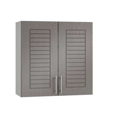 Assembled 24x30x12 in. Key West Open Back Outdoor Kitchen Wall Cabinet with 2 Doors in Rustic Gray