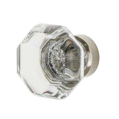Waldorf Crystal 1-3/8 in. Cabinet Knob in Polished Nickel