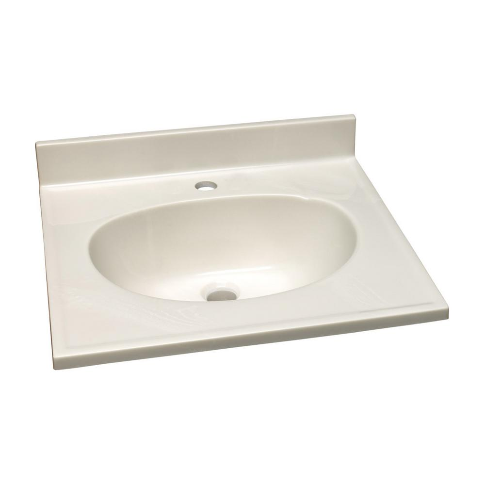 Design house 61 in single faucet hole cultured marble - Cultured marble bathroom vanity tops ...
