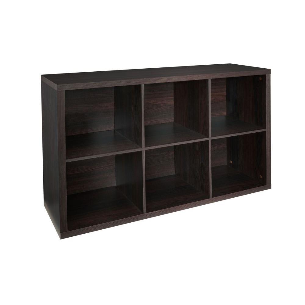 ClosetMaid 30 in. W x 44 in. H Decorative Black Walnut 6-Cube Organizer