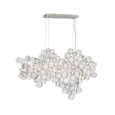 Trento 12-Light Champagne Silver Chandelier