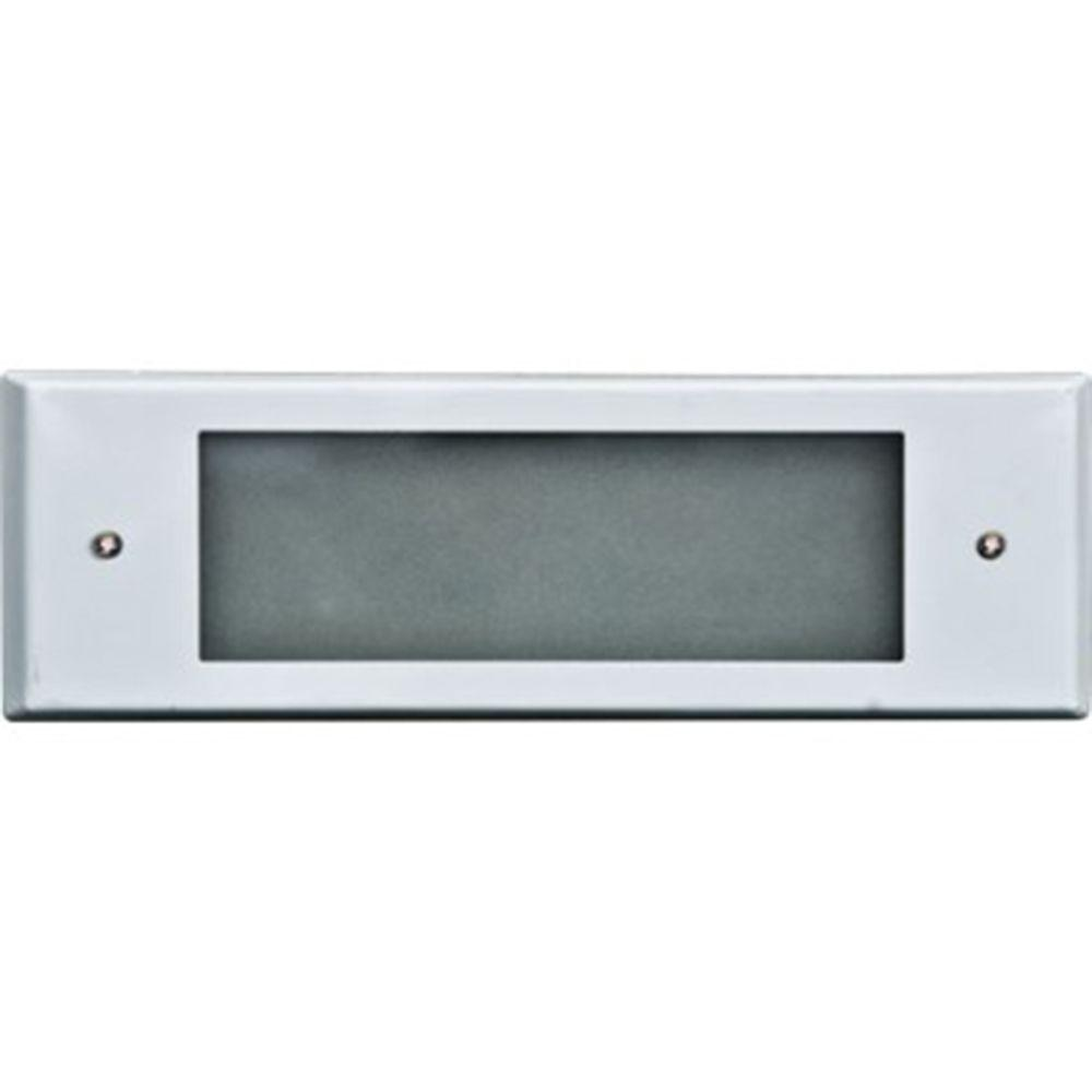 Ashler 2-Light White Outdoor LED Recessed Step Light