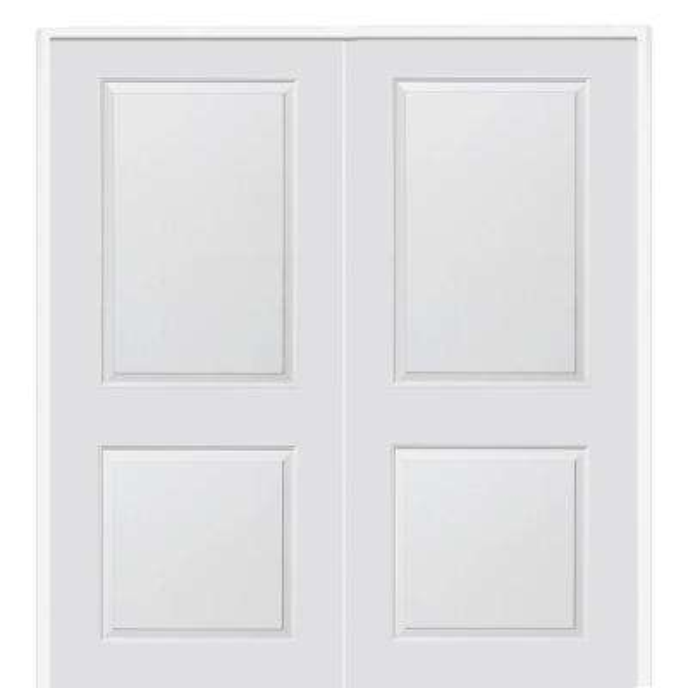 61.5 in. x 81.75 in. Primed Composite Cambridge Smooth Surface Solid Core Interior Double Door