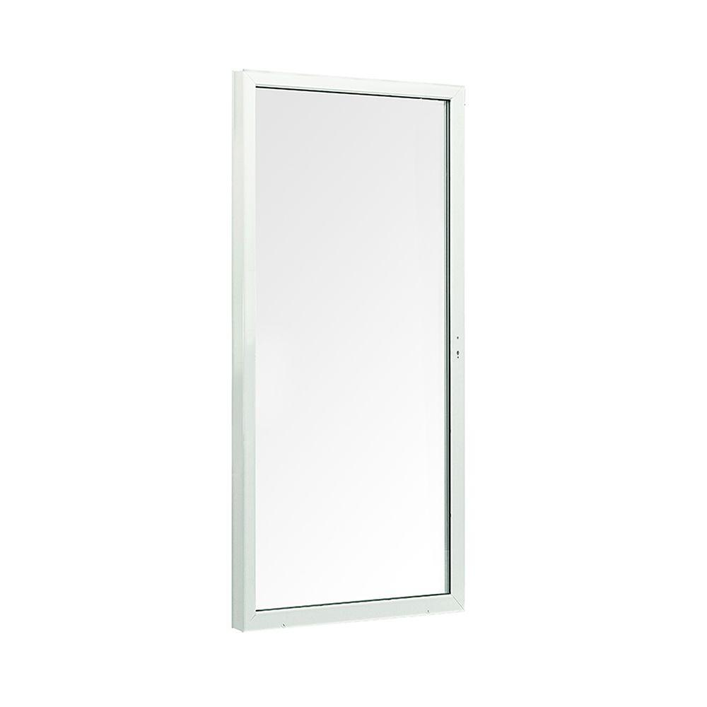 72 in. x 80 in. 200 Series White Left-Hand Moving Panel