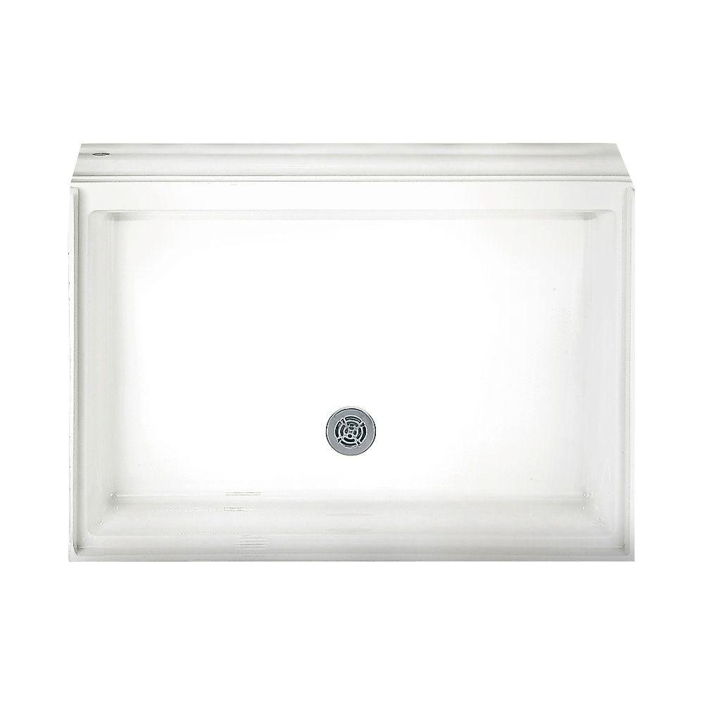 42-1/8 in. x 42-1/8 in. Single Threshold Shower Base in White