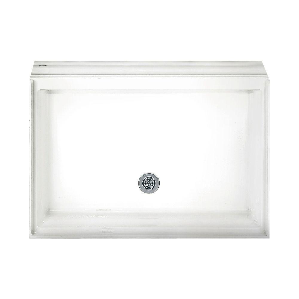 42-1/8 in. x 42-1/8 in. Single Threshold Shower Base in White