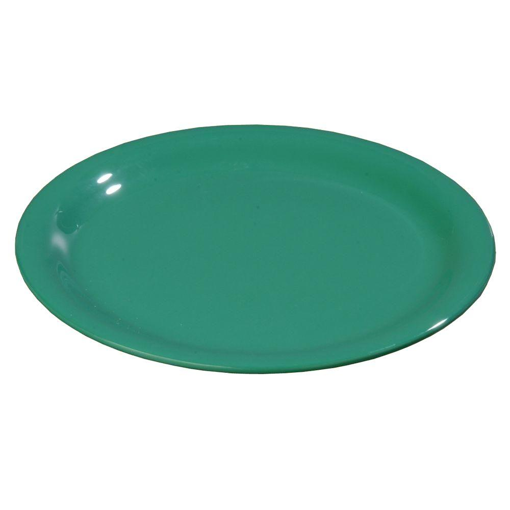 6.56 in. Diameter Melamine Narrow Rim Pie Plate in Meadow Green
