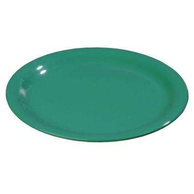 6.56 in. Diameter Melamine Narrow Rim Pie Plate in Meadow Green (Case of 48)