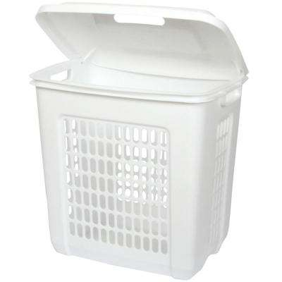 19.63 in. H x 19.13 in. W x 13.88 in. D Plastic 60 Qt. Replacement Pull Out Hamper in White
