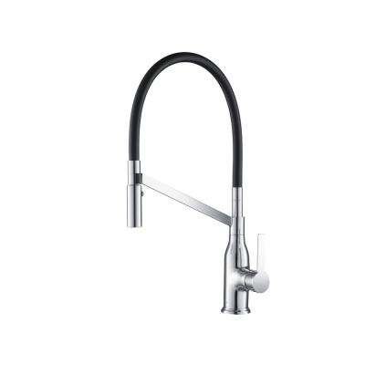 Vallant Gooseneck 1.8 GPM CalGreen Single-Handle Pull-out Sprayer Kitchen Faucet in Chrome