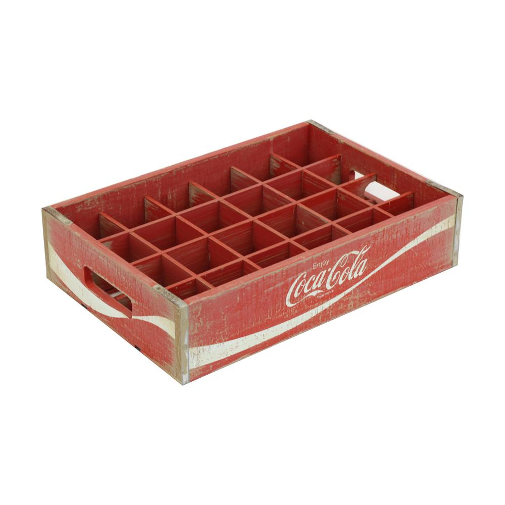 16.875 in. x 11.5 in. x 4 in. Coca-Cola 24-Grid Divided