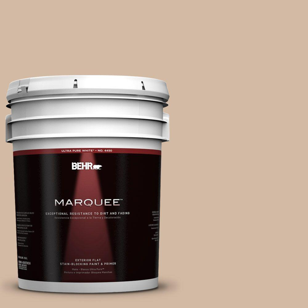 5-gal. #290E-3 Classic Taupe Flat Exterior Paint
