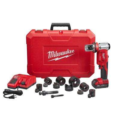 M18 18-Volt Lithium-Ion Cordless FORCE LOGIC 6 Ton Knockout Tool 1/2 in. to 2 in. Kit w/(1) 1.5Ah Battery, Die Set