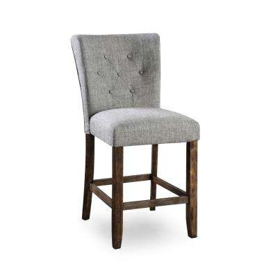 Murch Gray Button Tufted Counter Height Dining Chair (Set of 2)