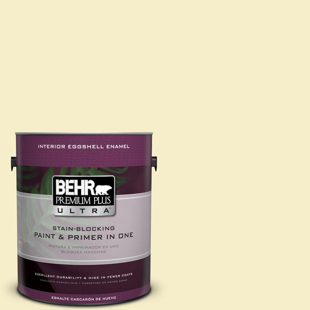 1 gal. #P330-1 Tart Gelato Eggshell Enamel Interior Paint and Primer