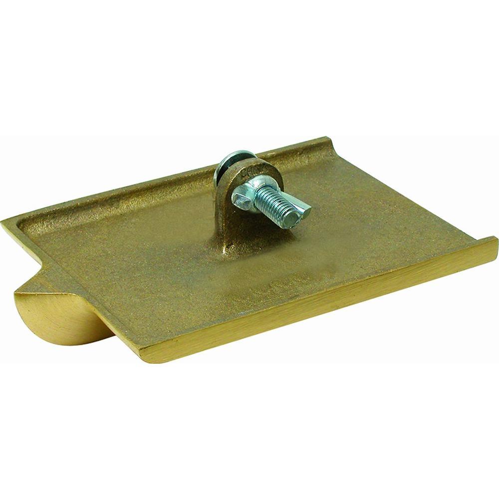 6 in. x 4-1/2 in. 1/4 R Bronze Walking Groover No Handle