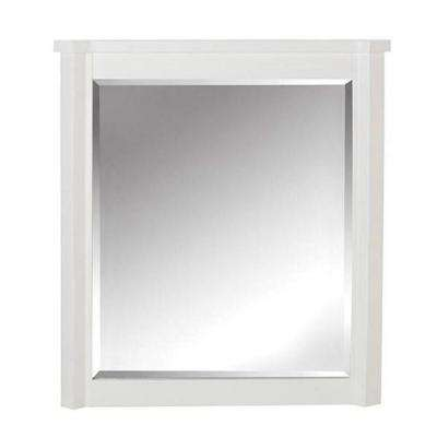 Barcelona 32 in. L x 28 in. W Framed Wall Mirror in White