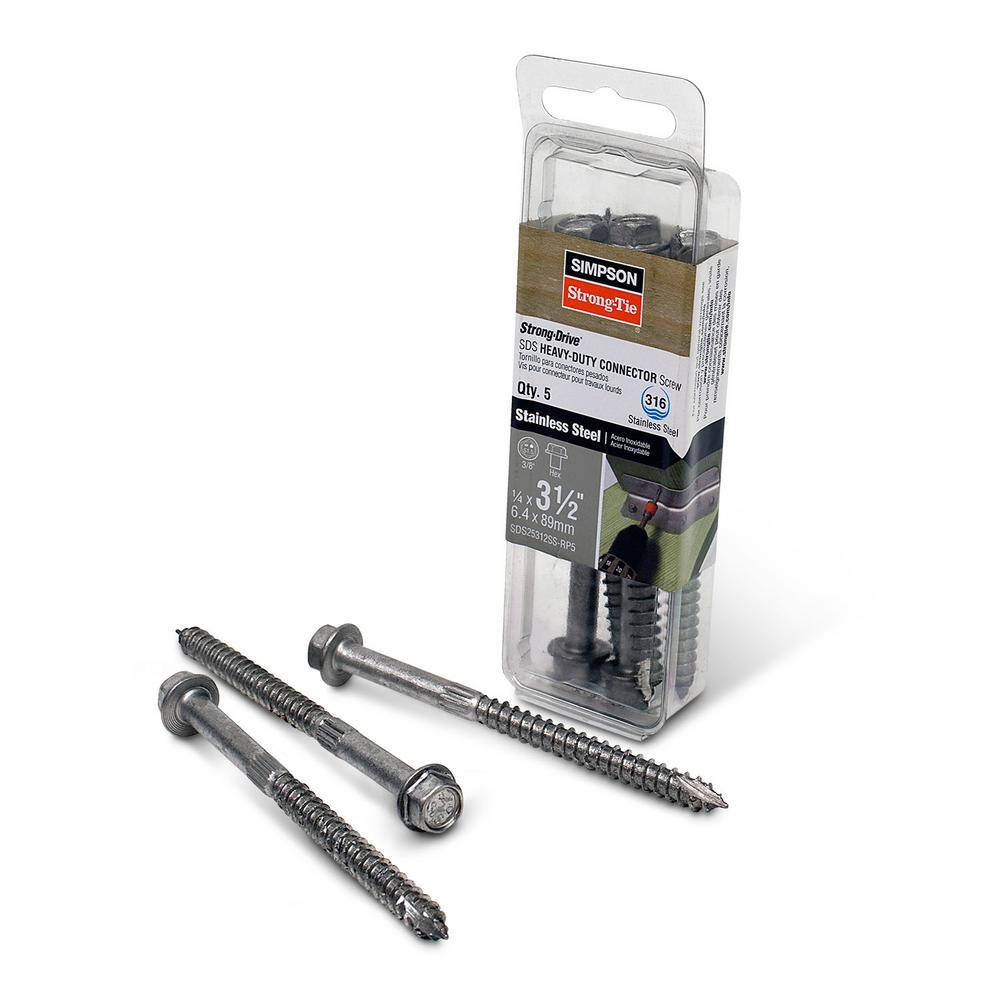 Stainless Steel - Wood Screws - Screws - The Home Depot