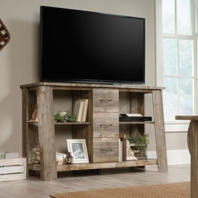 Boone Mountain 59 in. Rustic Engineered Wood TV Console with 3 Drawer Fits TVs Up to 60 in. with Built-In Storage