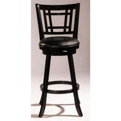 Fairfox Black Swivel Bar Stool