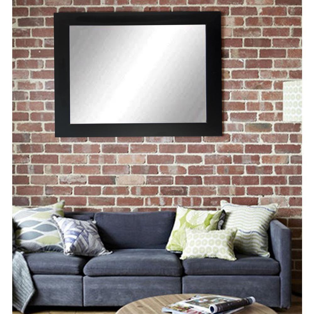 Wall Mirrors Living Room. Sofa Decor Matte Black Decorative Framed Wall Mirror White BM003M3 1