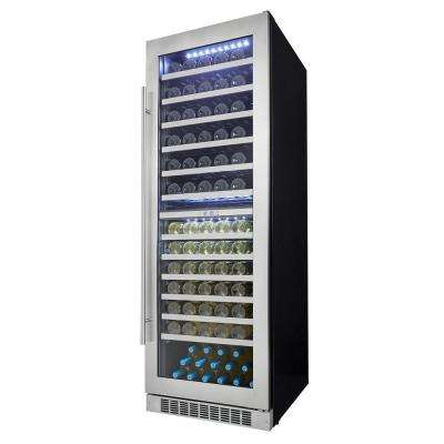 Professional 129-Bottle Dual Zone Built In Wine Cellar