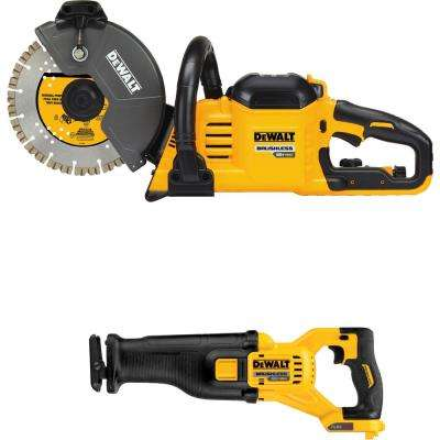 FLEXVOLT 60-Volt Lithium-Ion 9 in. Construction Saw with Bonus Reciprocating Saw