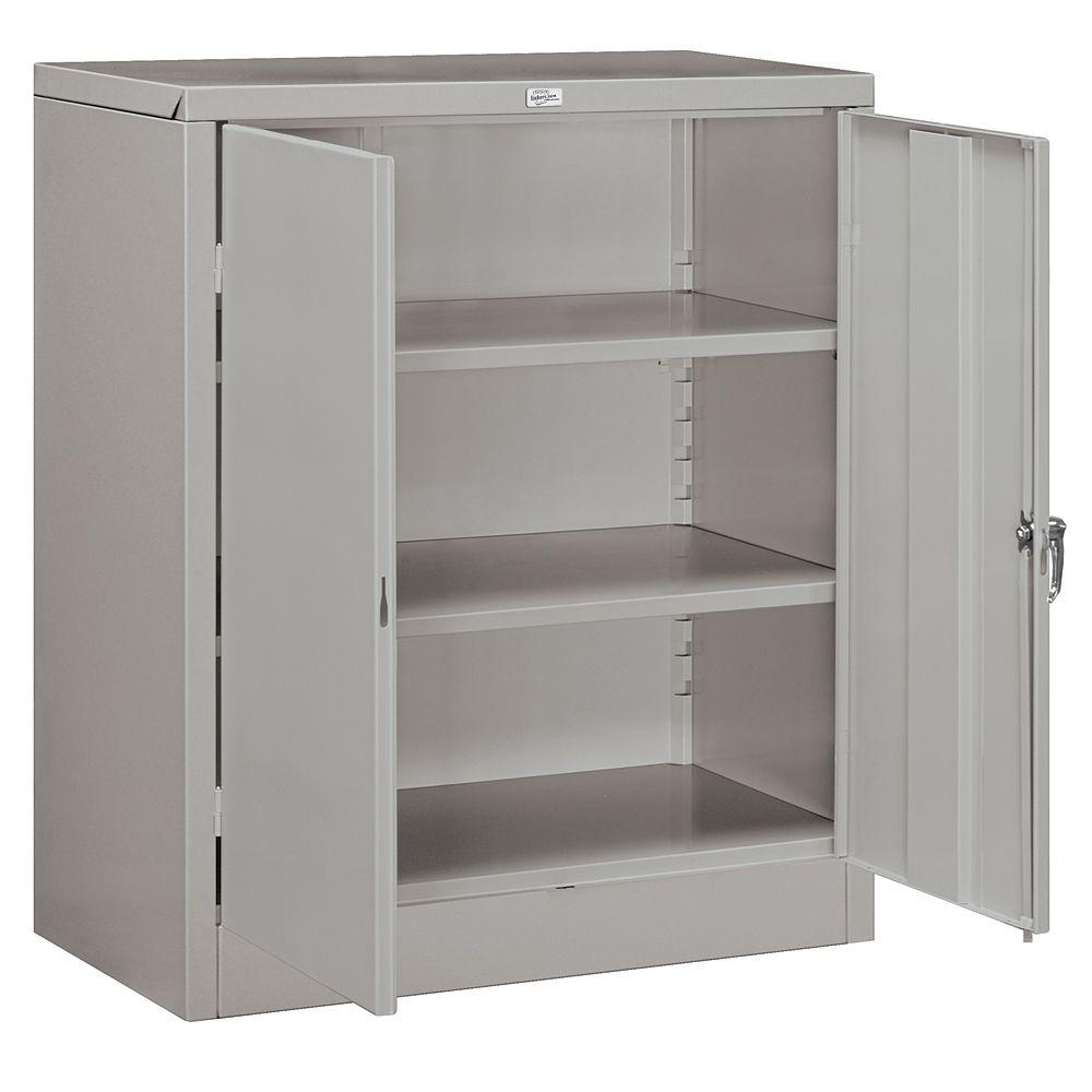 Salsbury Industries 9000 Series 42 in. H x 18 in. D Counter Height Storage Cabinet Unassembled in Gray