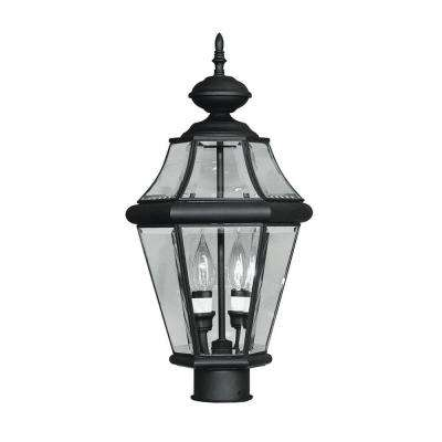 Providence 2-Light Outdoor Black Incandescent Post Lantern