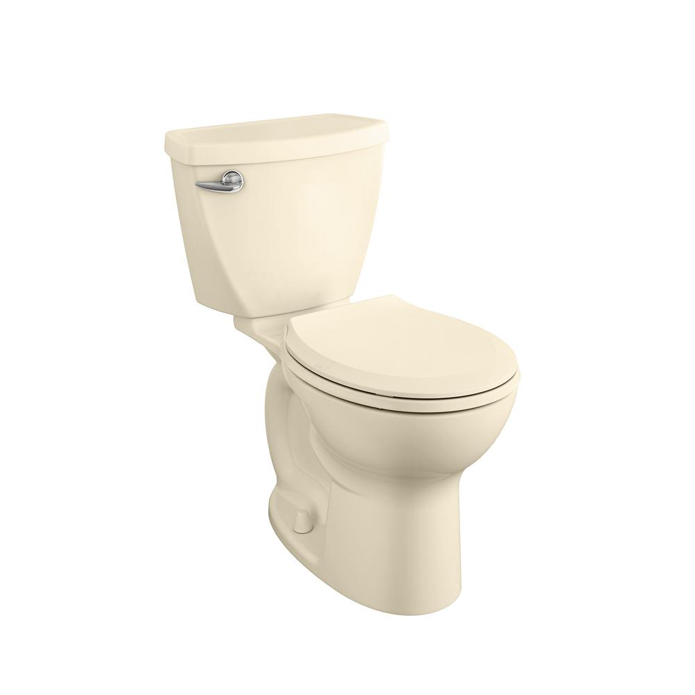 American Standard Cadet 3 FloWise Tall Height 2-Piece 1.28 GPF Single Flush Round Toilet with Slow Close Seat in Bone