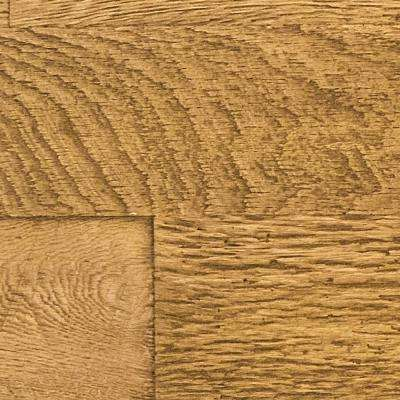 Superior 10 in. x 10 in. Faux Barnwood Panel Siding Sample Fall Leaf Brown