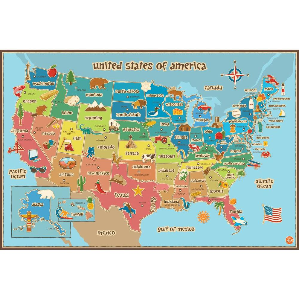 24 in. x 36 in. Kids USA Dry Erase Map Wall Decal Kids World Map on world shipping lanes, world most beautiful nature, world travel, world atlas, world hunger, world records, world globe, world of warships, world projection, world history, world border, world statistics, world glode, world wallpaper, world earth, world war, world culture, world wide web, world flag, world military,