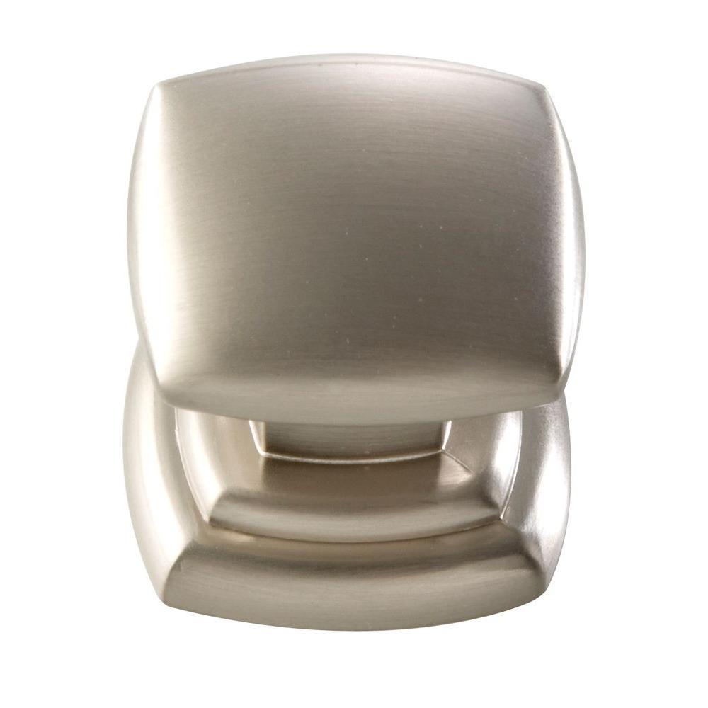 1-1/4 In. Euro-Contemporary Satin Nickel Cabinet Knob