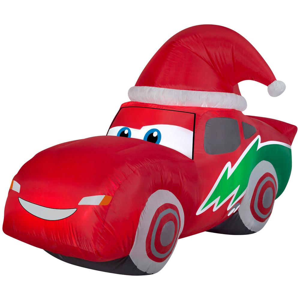 inflatable airblown mcqueen with santa hat - Snoopy Blow Up Christmas Decorations
