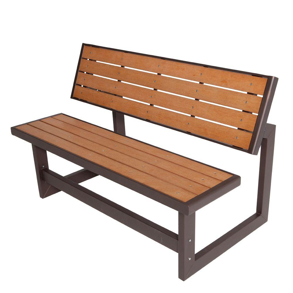 Outdoor Wood Bench Part - 28: Lifetime Convertible Patio Bench