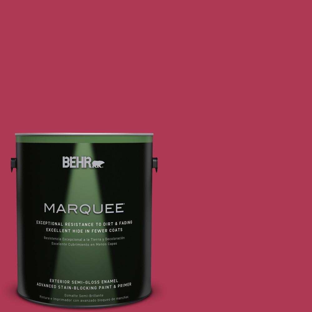 BEHR MARQUEE 1-gal. #130B-7 Cherry Wine Semi-Gloss Enamel Exterior Paint
