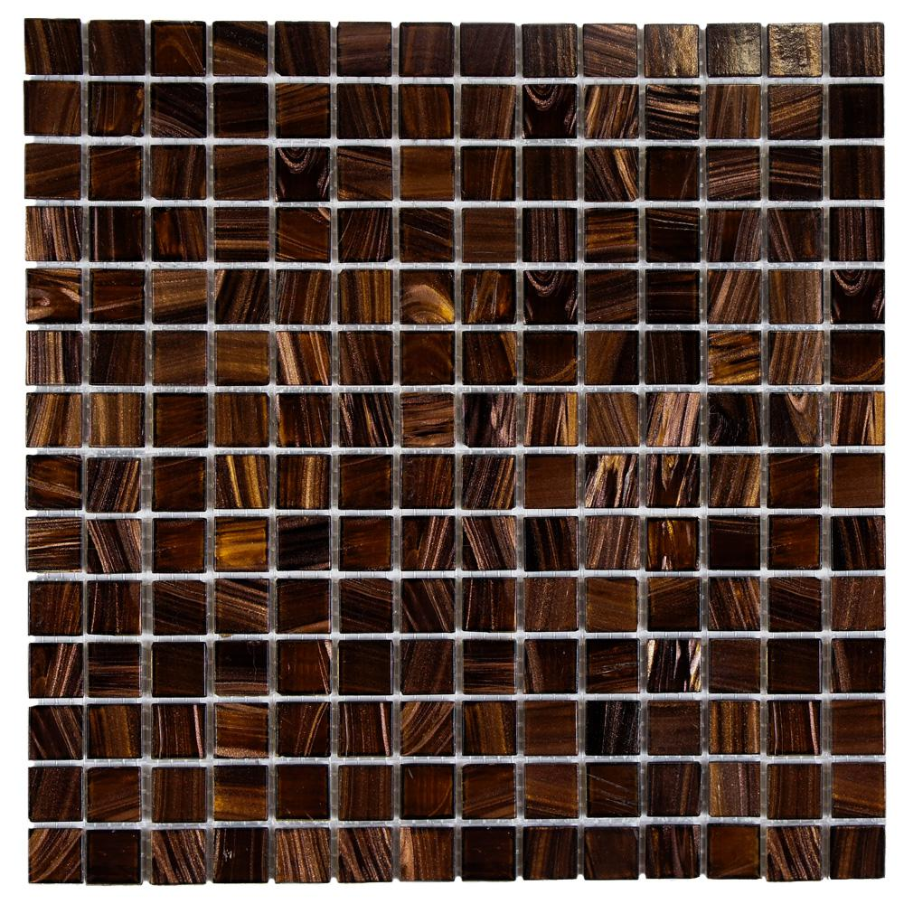 Merola Tile Coppa Brown Gold 12 In X 12 In X 4 Mm Glass