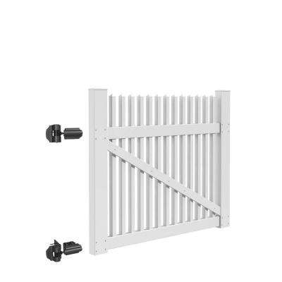 Ottawa Straight 5 ft. W x 4 ft. H White Vinyl Un-Assembled Fence Gate