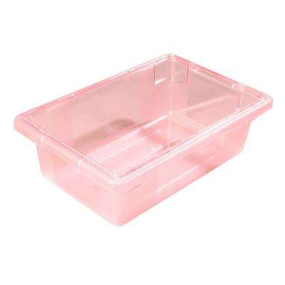 Color-Coded 3.5 gal., 12x18x6 in. Polycarbonate Food Storage Box in Red (Case of 6)