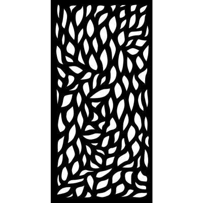 0.3 in. x 95.6 in. x 3.95 ft. Autumn Recycled Plastic Charcoal Decorative Screen (4-Piece per Bundle)