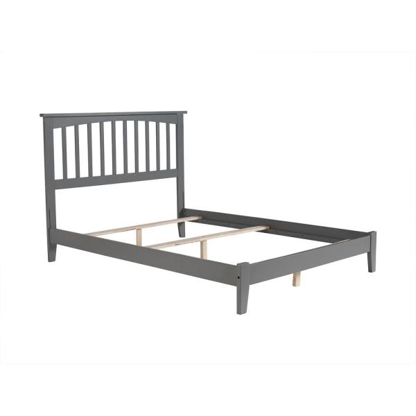 Atlantic Furniture Mission Full Traditional Bed in Grey AR8731039